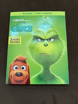 "Dr Seuss THE GRINCH (BLU-RAY + DVD + DIGITAL) w/Slipcover NEW 2019 ""USA Edition"""