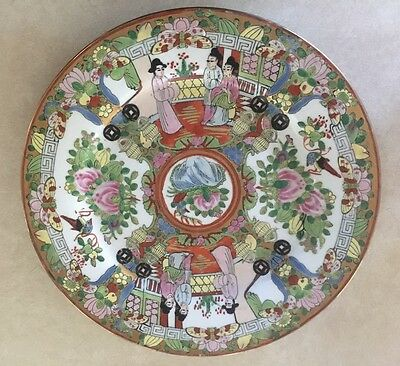 Hand Painted Plate Oriental Decorative Collectible Plate 10 Inch
