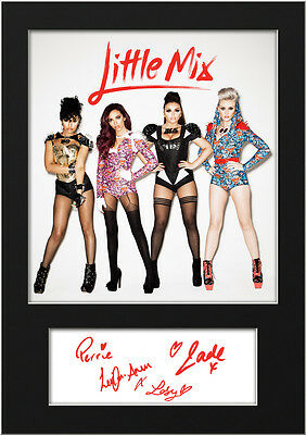 LITTLE MIX #8 Signed Print A5 Mounted Photo Print - FREE DELIVERY