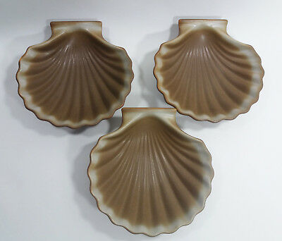 3 Ceramic Shell Dishes Oven Proof From Japan - Oven Table Ware Fish Dishes