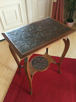 Two Tier Carved Occasional Table Circa 1910-1920
