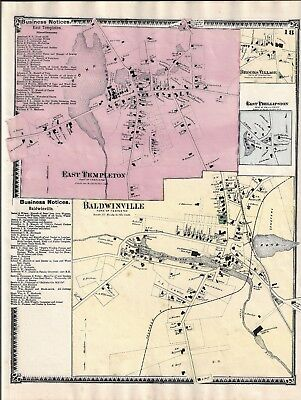 Holden, Ma. Map That Was Removed From The Beers 1870 Atlas
