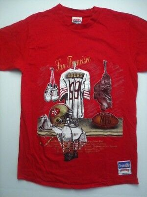 1b115cd119a Vintage Nutmeg San Francisco 49ers Mens T-Shirt Large Red NFL 90s Football  RARE