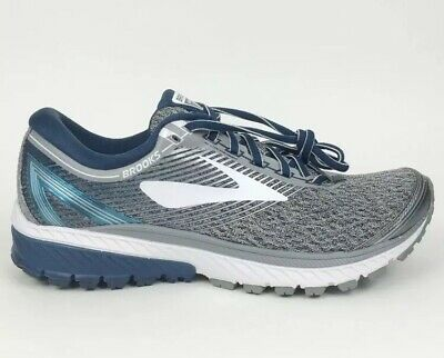 80e3b23cc1a New Men s Brooks Ghost 10 Running Shoes Size 8 D Medium Silver Blue White  DNA