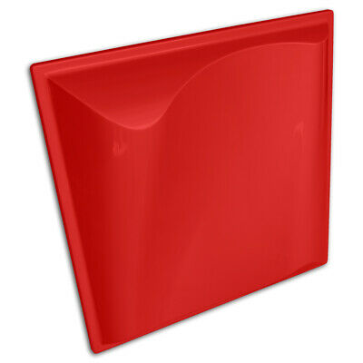 """JOCAVI - Plura Diffusor ABS Acoustic Panel 23.6"""" x 23.6"""" x 4.17"""" Red (Pack of 2)"""