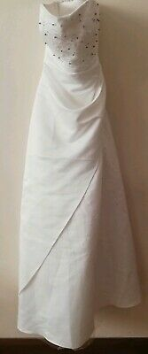 Wedding Dress White Ivory Princess Bridal Gown Uk 12 new without tags marked 129