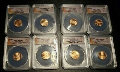 2009 Complete P & D Lincoln Cent Bicentennial 8-Coins ANACS MS67 RD Set