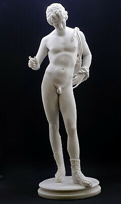 Narcissus Nude Male Art Greek Mythology Statue Sculpture Cast Marble Museum Copy