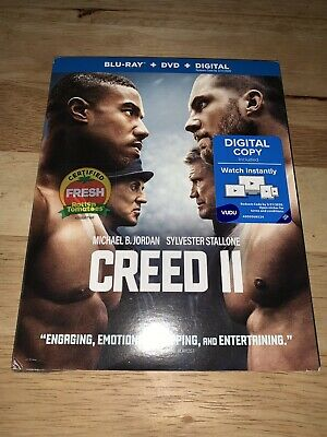 NEW Creed II (2019) Blu-ray + DVD + Digital