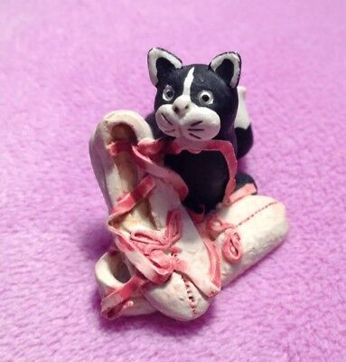 Collectable Made and Hand Painted In Scotland Cat Ornament