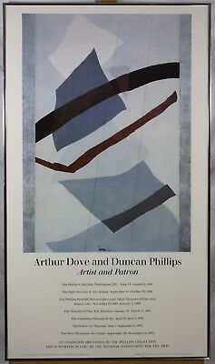 Rain or Snow Vintage Arthur Dove And Duncan Phillips Vintage 1981 Gallery Poster