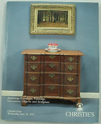 Christie's American Furniture Paintings Decorative Art Auction Catalog Jun 1992