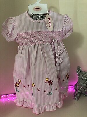 Baby Girls Smocked Striped Dress