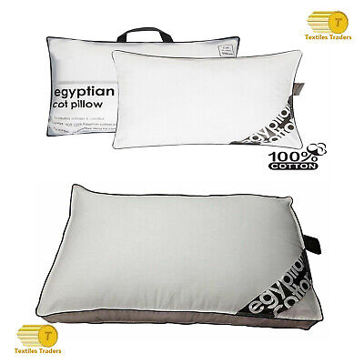 Egyptian Box/Cot Pillow Cotton Luxury Comfort Hotel Quality Hollow Fibre Pillows