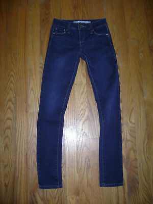 tractr Girls Stretchy Skinny Jeans size 10 EUC Denim Blue Stunning