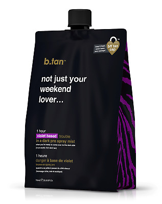 b.tan - not just your weekend lover... pro mist spray tan solution