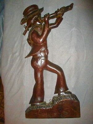 Rooster River Original Wood Carving if 18th Cent. Sailor. Signed by Edward Litel