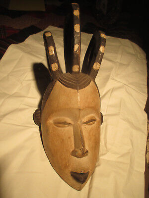 Antique Hand Carved Asian Wood Mask.