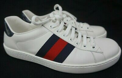a444887f462 Gucci Men s White Ace Clean Leather Low Top Sneakers Men s Shoes Size 6 ...