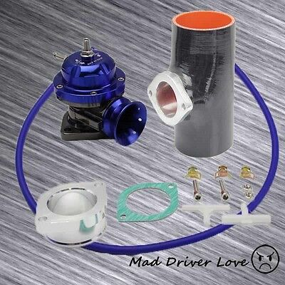 """RED BOV BLOW OFF VALVE 30PSI+3/"""" SILICONE COUPLER UNIVERSAL FOR HONDA CIVIC DC2"""