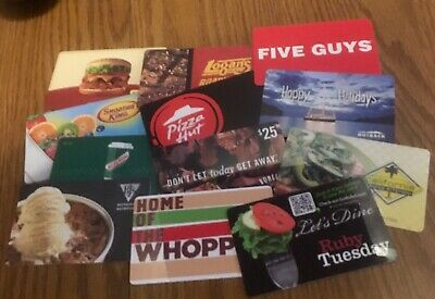 Lot of 12 Different Food & Restaurant Gift Cards -Collectible Only-