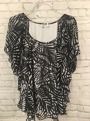 28c854054f7 Cato Women's Plus Size Blouse Size 22/24 Black And White 2- Pieces Stretch