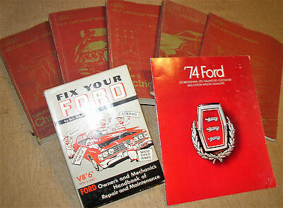 1974 74 Ford Mach 1 Mustang Torino Galaxie LTD 500 Shop Manuals & Owners Orig!