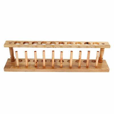 CN_ 10-Punching Test Tube Rack Science Experiment Test Tube Stand Storage Box