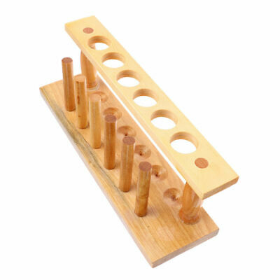 CN_ 6 Holes 20mm Wooden Lab Test Tube Rack travelling pouches Laboratory Stand