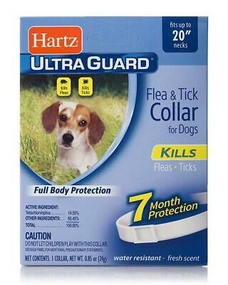 "Hartz Ultraguard Kills & Repels Flea & Tick Collar for Dogs with up to 20"" neck"