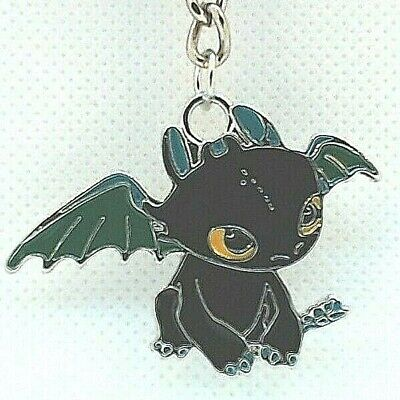 "1"" Toothless How to Train Your Dragon DreamWorks Enamel Keychain Key Chain USA"