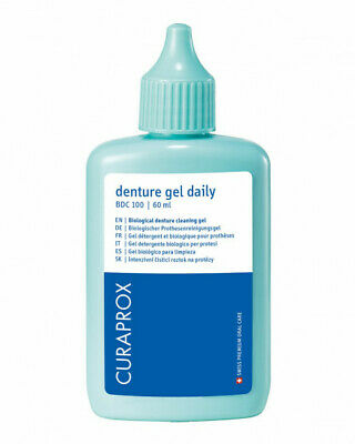 Curaprox Daily Polishing Gel For Dentures 60ml Oral Care Cleaning No Abrasives