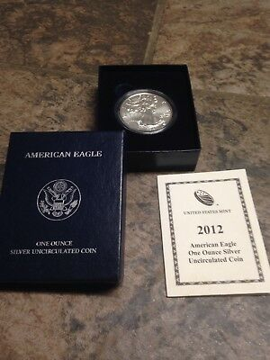 2012-W United States Mint American Silver Eagle Silver Uncirculated Coin Petina