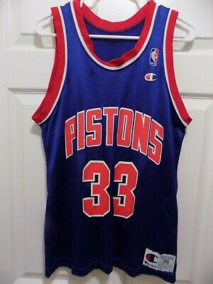 ad85951f8146 Grant Hill Detroit Pistons Jersey (size 36) CHAMPION  Vintage Rare (great