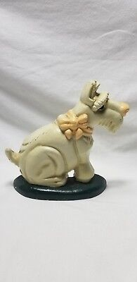 Vintage Cast Metal Scotty Westy Schnauzer Dog Door Stop