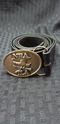 NRA ILA Eagle Guns Belt Buckle Made in USA Smaller But Heavy with belt