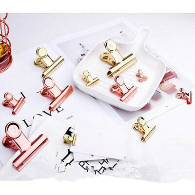 Metal Binder Clips Paper Clip School Office Stationery Binding Supplies 10pcs