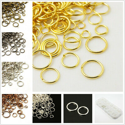 A Box Mixed DIY Size 4/5/6/7/8/10mm Open Jump Rings Stainless Steel For Jewelry