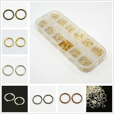 DIY A Box Mixed Size 4/5/6/7/8/10mm Stainless Steel Open Jump Rings For Jewelry
