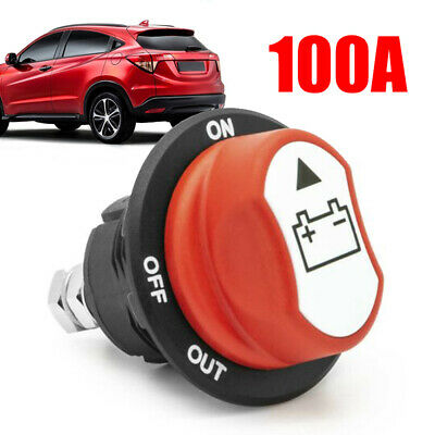 Car Battery Disconnect Main Power Switch 100A Emergency Off Pole Separator Kit