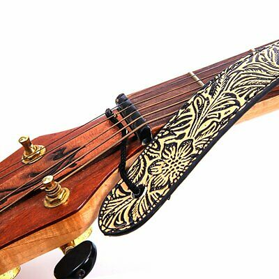 Adjustable PU Leather Wide Strap Electric Acoustic Guitar Bass Flower Printed