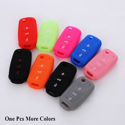 Colorful Silicone Car Key Case Cover For VW Golf Passat  Bora Remote Fob KeySet