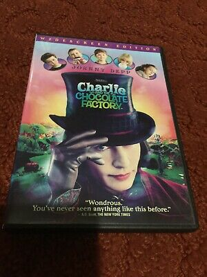 Charlie and the Chocolate Factory (DVD, 2005, Widescreen) Like New!