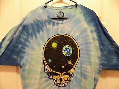 Official GRATEFUL DEAD T-SHIRT (XL Adult) SPACE/SKULL/ Jerry Garcia Tie Dye (NEW