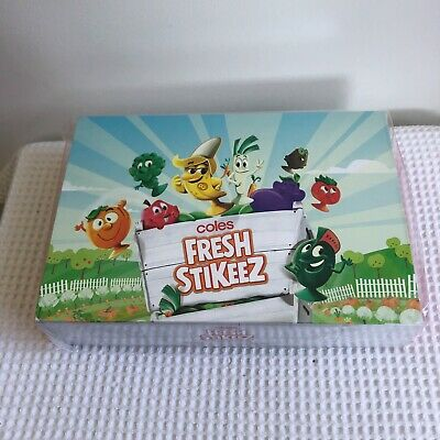 New In Box Coles Fresh Stikeez Collectors Case Box - Sealed