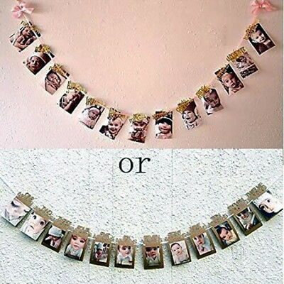 1-12 Month Photo Banner Birthday Girl Decorations Monthly Photo Banner #H8 US