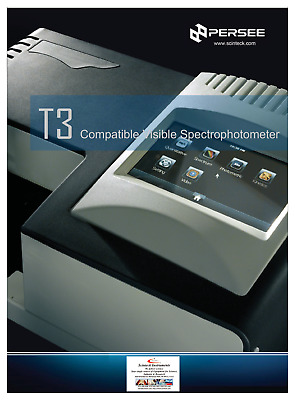 PERSEE T3 Portable UV-Visible Spectrophotometer P/N T3GP