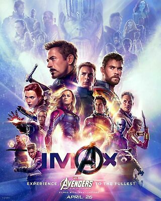Avengers Endgame IMAX Movie 2019 Film End Game 8x12 24x36 Hot Poster Y217