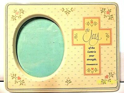 "Baby Frame JOY OF THE LORD IS YOUR STRENGTH Nehemiah 8:10 5-3/4 x 4-3/8"" NEW"