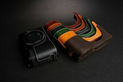 Genuine Real Leather Half Camera Case Bag Cover for Ricoh GR III GR3 Six Colors